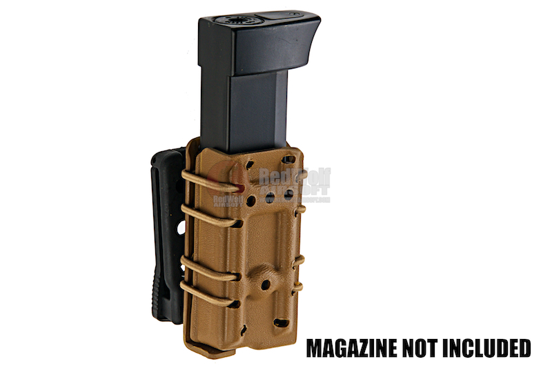 GK Tactical 0305 Kydex Single Stack Pistol Magazine Carrier - Coyote Brown