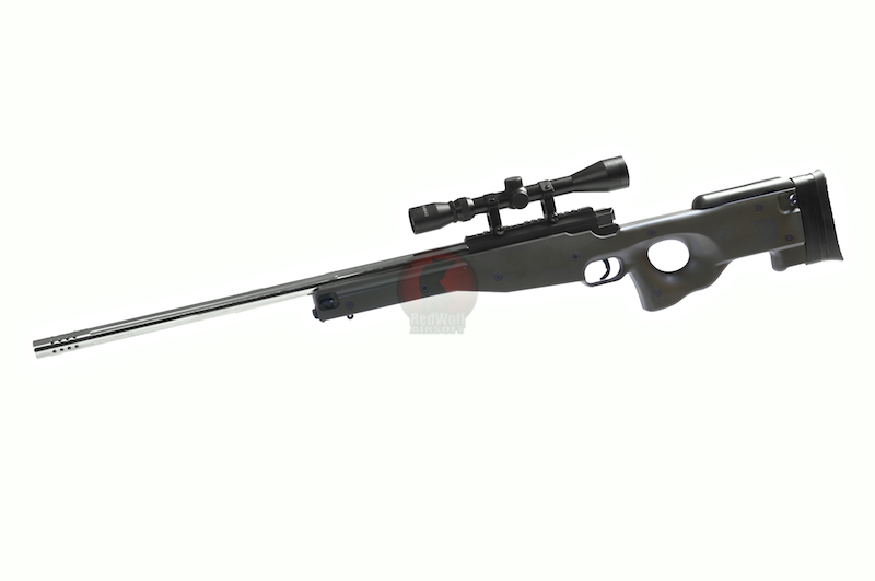 Action T96 Airsoft Sniper - S/OD (Silver Barrel)