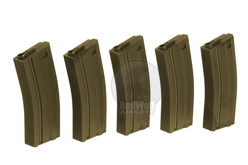 Action 120 rds M16 Magazine Box Set (5pcs/set) - OD
