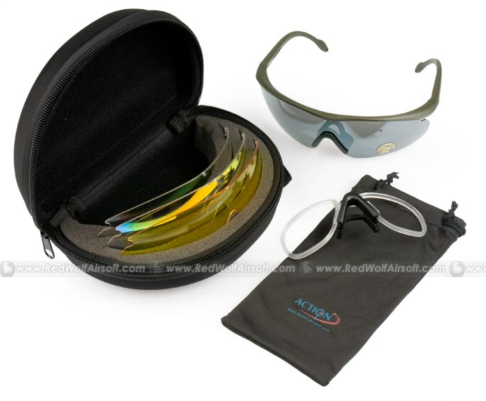 Action Sport Glasses with Spare Lens (FG)