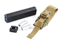 ACE 1 ARMS OSP Style Mock Suppressor RangeUp Series 7 inch (BK) + Replace Tool Kit Socket Wrench + Multicam Pouch
