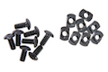 AABB M-LOK Nylon Picatinny Rail Sections 5 Slots - Black