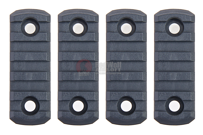 AABB M-LOK Nylon Picatinny Rail Sections 5 Slots - Urban Grey
