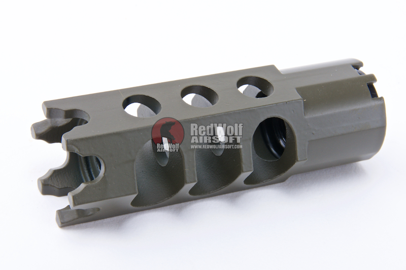 Asura Dynamics DTK-1 Muzzle Brake for AK Series (GHK / WE / KSC / LCT / CYMA / E&L) - 14mm CCW