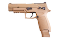 SIG AIR P320 M17 6mm CO2 Version GBB Pistol - Tan (Licensed by SIG Sauer) (by VFC)