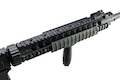 A&K Full Metal Fixed Stock SR-25 Airsoft AEG Rifle - Black