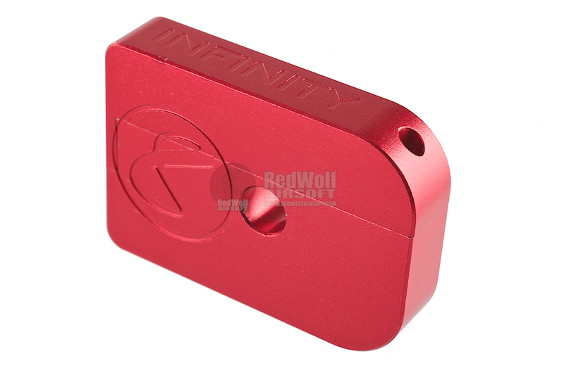 AKA CNC Infinity Puzzle Magazine Base for Tokyo Marui Hi-Capa 5.1/4.3 Series - Red / Small
