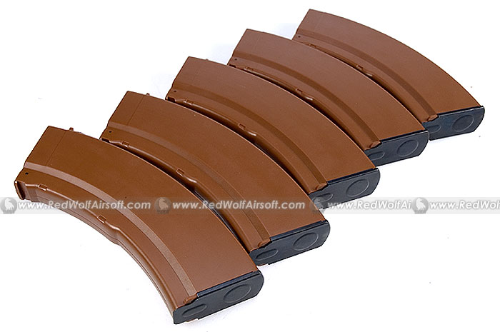 MAG AKM 100rds Magazine (5 Box Set) for Marui AK47