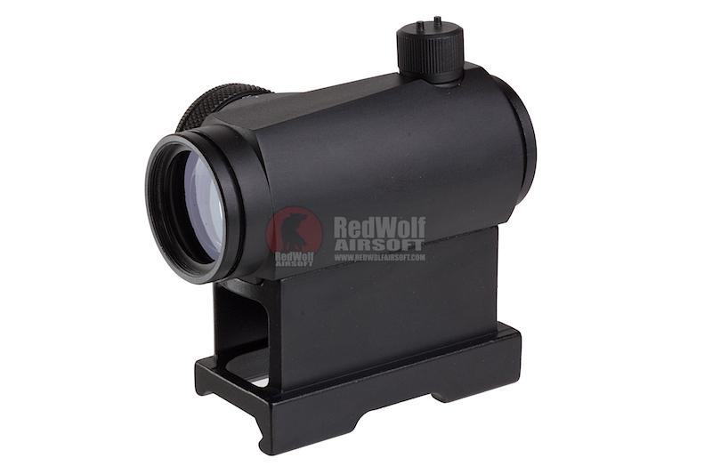 AIM T1 Red Dot w/ Offset Rail, QD Mount & Low Mount - BK