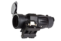 AIM 4X FXD Magnifier with adjustable QD mount - BK