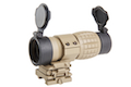AIM 4X FXD Magnifier with adjustable QD mount - DE