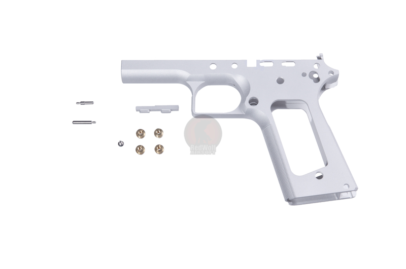 Airsoft Surgeon Limted Single Stack TM 1911 Frame Infinity (Square Trigger Guard / Silver)