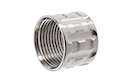 Airsoft Surgeon TP-Pro Knurled Thread Protector - 14mm CCW - Silver