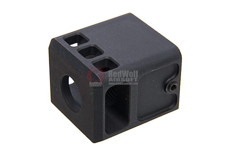 Airsoft Surgeon Stubby Comp for G Series (14mm CCW) - Black