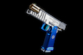 Airsoft Surgeon Infinity Capsicum with Hybrid Barrel (Blue & Silver)