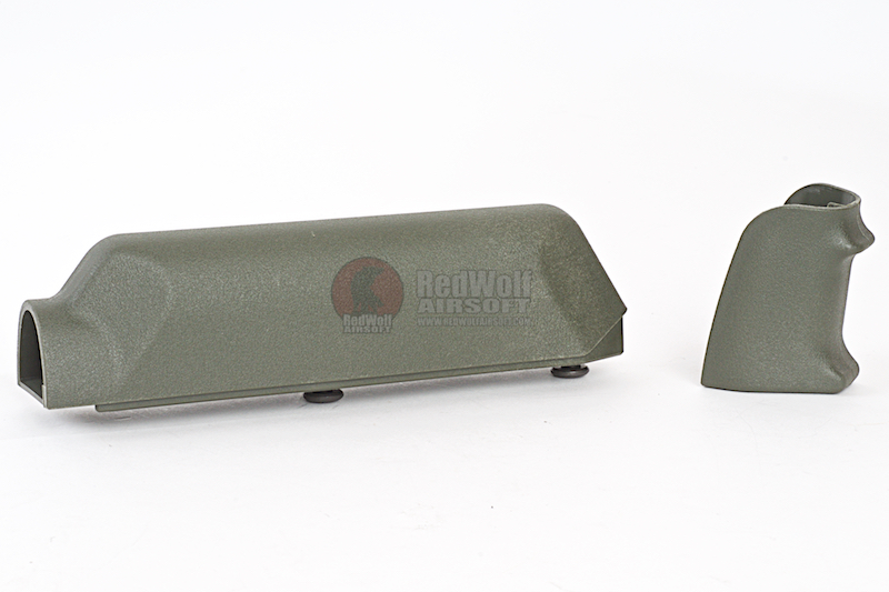 ARES Amoeba Striker S1 Pistol Grip with Cheek Pad Set for Amoeba Striker S1 Sniper -Olive Drab