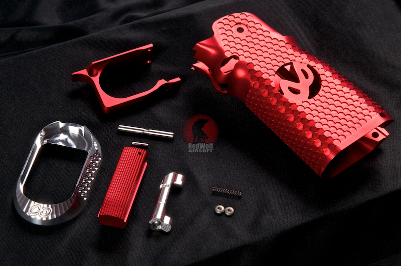 Airsoft Surgeon Infinity CNC Aluminum Grip Signature Mobius - Red