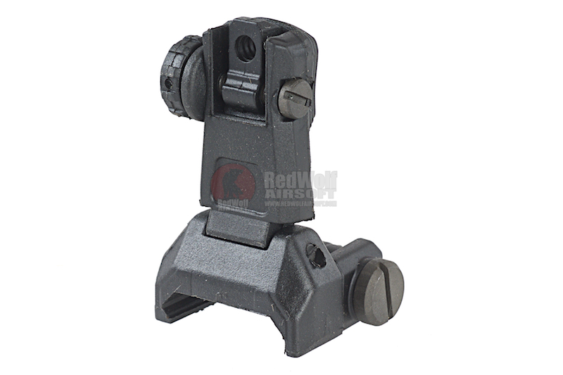 ARES Reinforced Nylon Fiber Flip-up Rear Sight for Milspec 1913 Picatinny Rail (AS-R-020) - Black