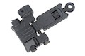 ARES Reinforced Nylon Fiber Flip-up Rear Sight for Milspec 1913 Picatinny Rail (AS-R-021) - Black