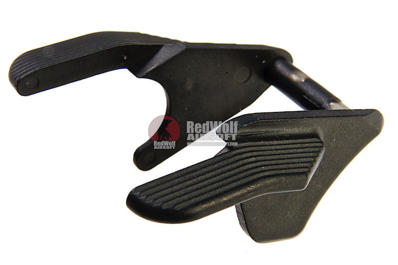 Airsoft Surgeon Stainless Thumb Safety -Ambi for Tokyo Marui Hi-Capa 5.1 / 4.3 GBB - Black