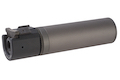 ASG ROTEX - III C Barrel Extension Tube and Flash Hider - 160mm Length 14mm CCW Grey (Licensed by B&T)