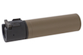 ASG ROTEX - III C Barrel Extension Tube and Flash Hider - 160mm Length 14mm CCW Tan (Licensed by B&T)
