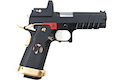 AW Custom 'Competitor' Hi Capa Gas Blowback Pistol - Black w/ Red & Gold Trim