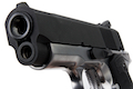 AW Custom NE10 Series 1911 Officer Size Gas Blowback Pistol - Black Slide / Silver Frame