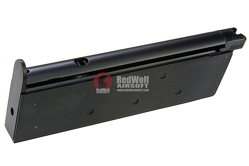 AW Custom 1911 Single Stack Gas Magazine (15rds) for AW / WE / Tokyo Marui / Cybergun 1911 Series - Black
