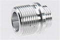 AW Custom Aluminum Thread Adaptor for Tokyo Marui / WE / AW Threaded Outer Barrel - Silver