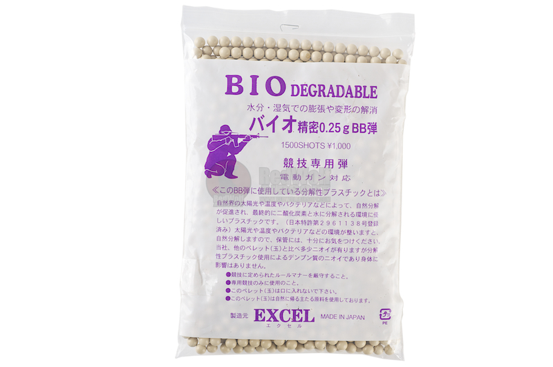 Excel Bio-Degradeable 0.25g 6mm BBs 1500 rounds <font color=yellow>(Clearance)</font>