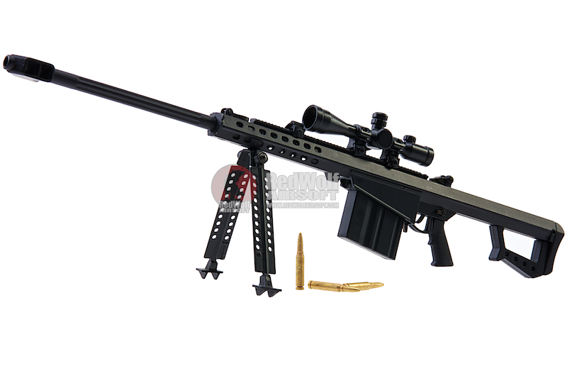 Blackcat Airsoft Mini Model Gun M82A1 (Scale 1:4) - Black
