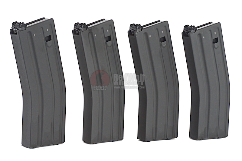 Blackcat Airsoft Aluminium 30 / 120 rds Magazine for Systema PTW (4 PACK)