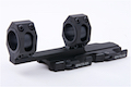 Blackcat Airsoft 25/30 mm QD Extension Dual Scope Mount - Black