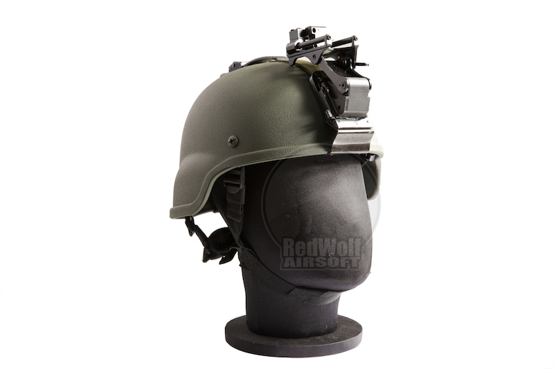 Emerson MICH Helmet 2000 w/ Rhine Night Vision Arms (OD)