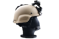 Emerson MICH Helmet 2000 w/ Rhine Night Vision Arms (Sand)