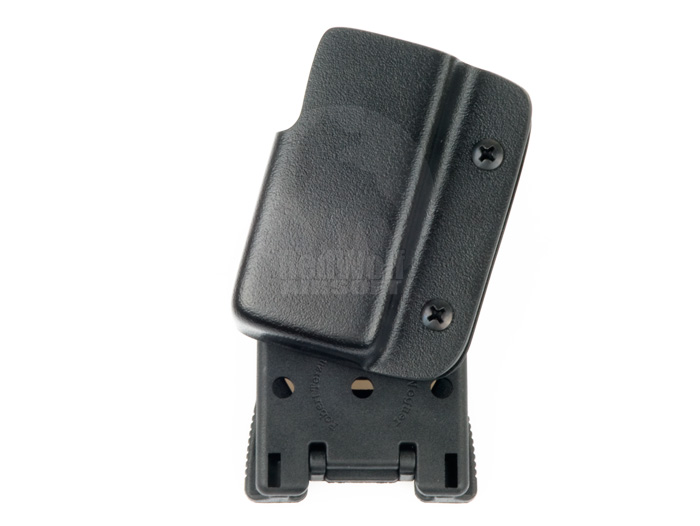 Blade-Tech Kydex Bobby McGee Professional Series Competition Right Handed Magazine Pouch for Glock 17,18C, G19, G40 With Tek Lok Attachment (Black)