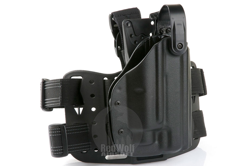 Blade-Tech Kydex WRS Tactical Light Thigh Holster for Kimber Warrior / Marui Hi Capa w/ M3/M6 (Right Hand, Black)(10045)