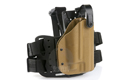 Blade-Tech Kydex WRS Tactical Light Thigh Holster for Kimber Warrior / Hi-Capa w/ M3/M6 (Right Hand, Dark Earth)(10045)