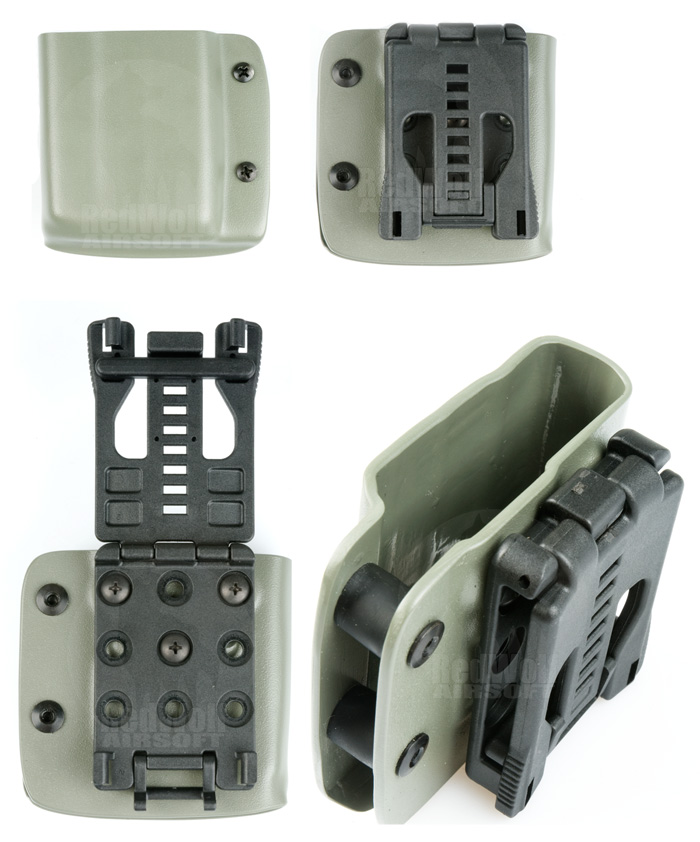 Blade-Tech Kydex Mag Pouch for AR-15 Magazine w/ Tek Lock (Right Hand, Foliage Green)(30005)