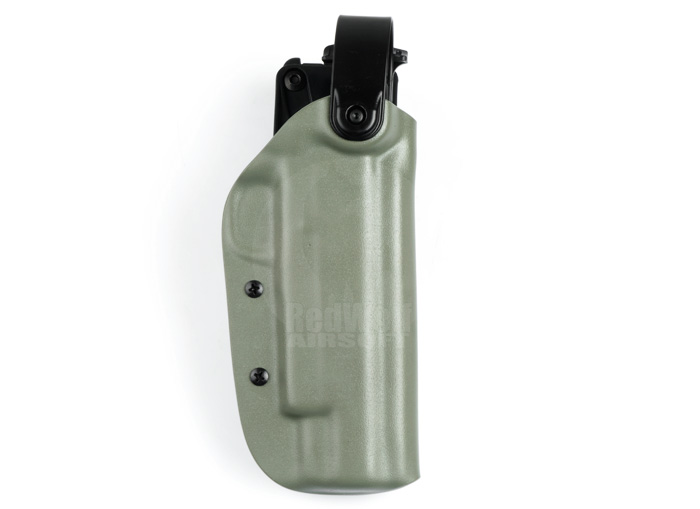 Blade-Tech Kydex WRS Right Handed Duty Holster for Kimber Desert Warrior / Hi-Capa with Tek Lok Attachment (Foliage Green)