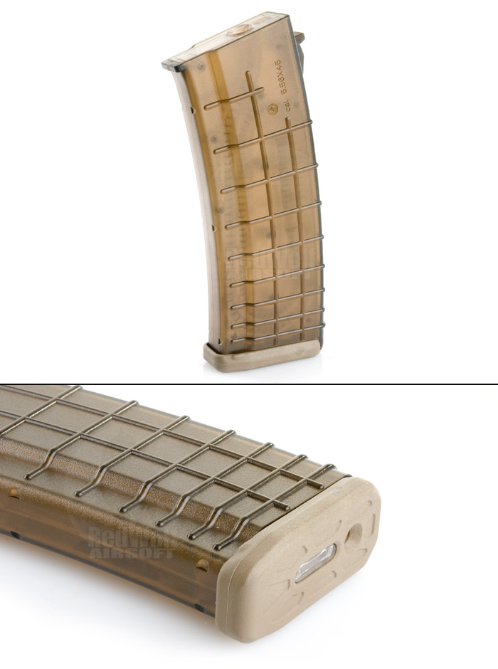 Beta Project 140rds Mid Cap Magazine for AK (Dark Earth)