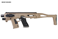 CAA Airsoft Division MICRO RONI G3 Pistol - Carbine Conversion for Glock Series - DE