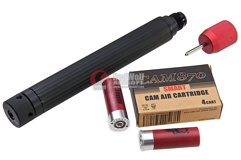 APS Combo Package A (Smart CAM Co2 Cartridge, Cylinder 2 x 12 Co2 Capsule, Smart Charger for Standard Cylinder)