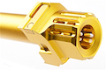 COWCOW Technology Fast Lock Compensator & Barrel Set for Tokyo Marui G Series GBB Pistol - Gold