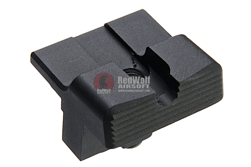 COWCOW Technology Aluminum CNC T1G Rear Sight for Tokyo Marui  Model 17 / 19 & WE G17 GBB - Silver