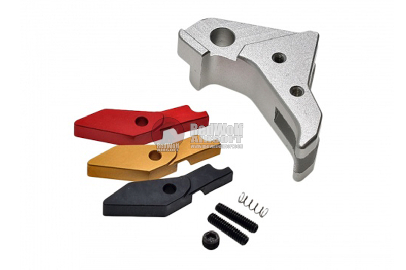 COWCOW Technology Aluminum CNC Tactical G Trigger for all Tokyo Marui G-Series GBB Pistol - Silver