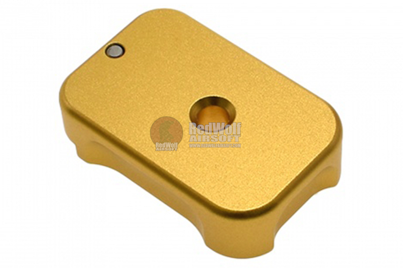 COWCOW Technology Aluminum CNC Tactical G Magbase for Tokyo Marui G-Series GBB Pistol - Gold