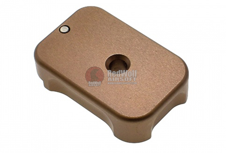 COWCOW Technology Aluminum CNC Tactical G Magbase for Tokyo Marui G-Series GBB Pistol - FDE