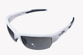 Wiley X Saint Grey Silver Flash Lens / Gloss White Frame